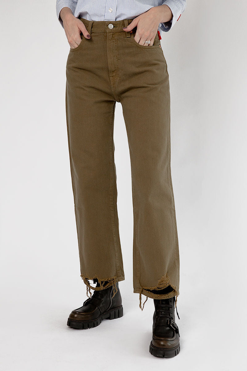 Pierce High Rise Jeans in Olive