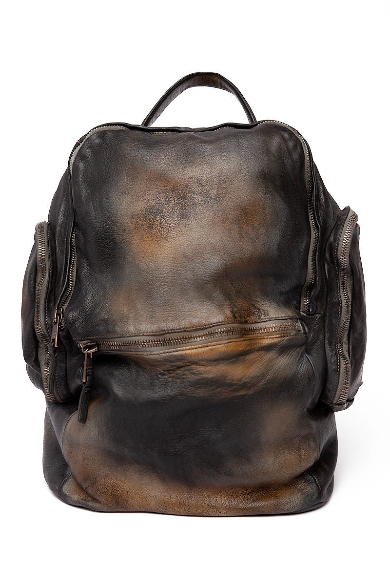 Leather Backpack in Nero