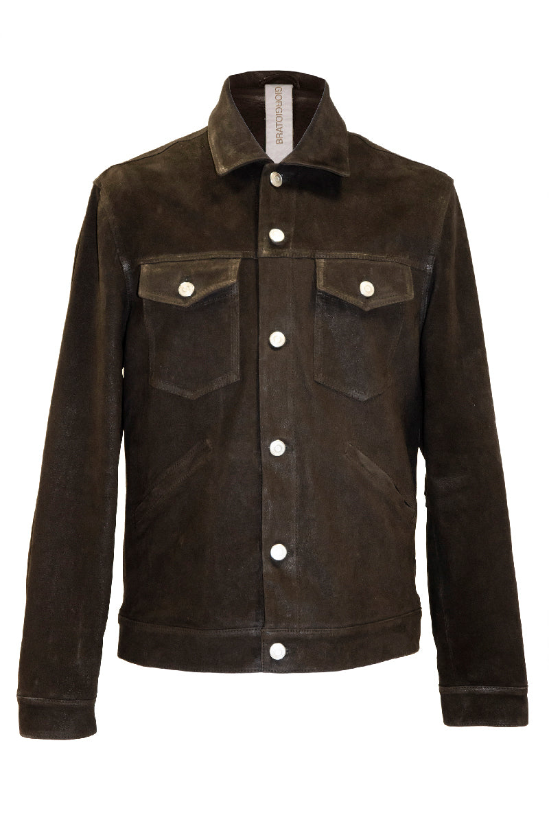 Leather Jacket in Moro