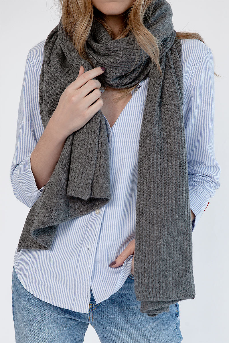 Textured Scarf in Thunder