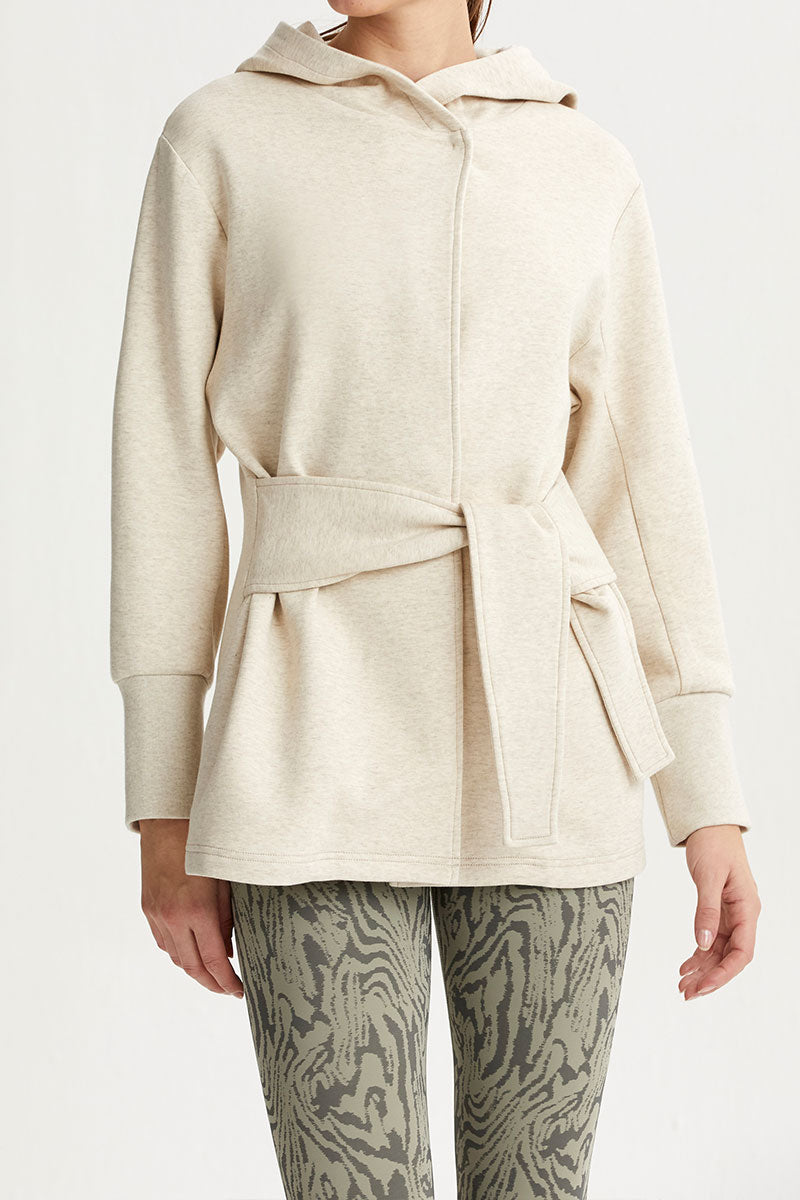 Cove Wrap Jacket in Pelican Heather