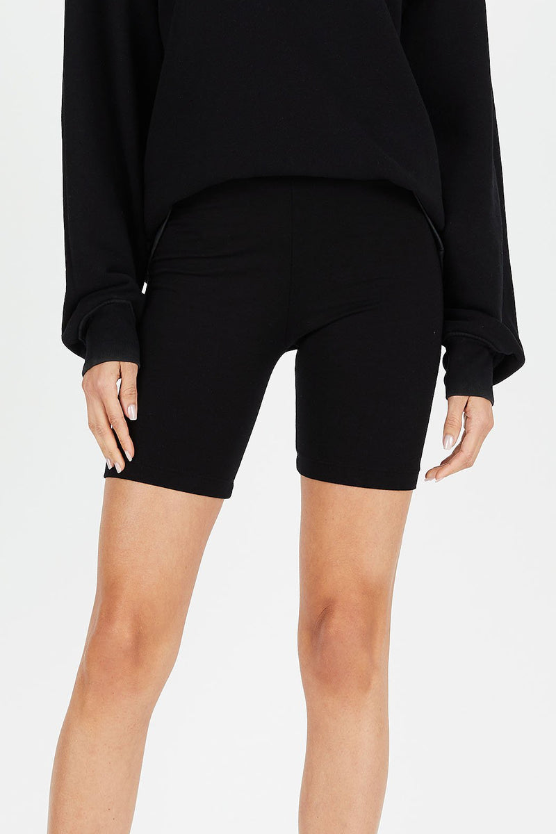 Milan Biker Shorts in Jet Black