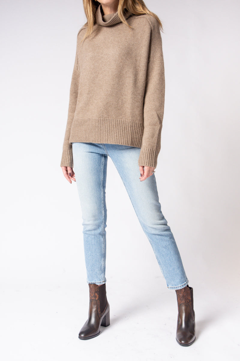 Perfect Turtleneck Sweater in Biscuit