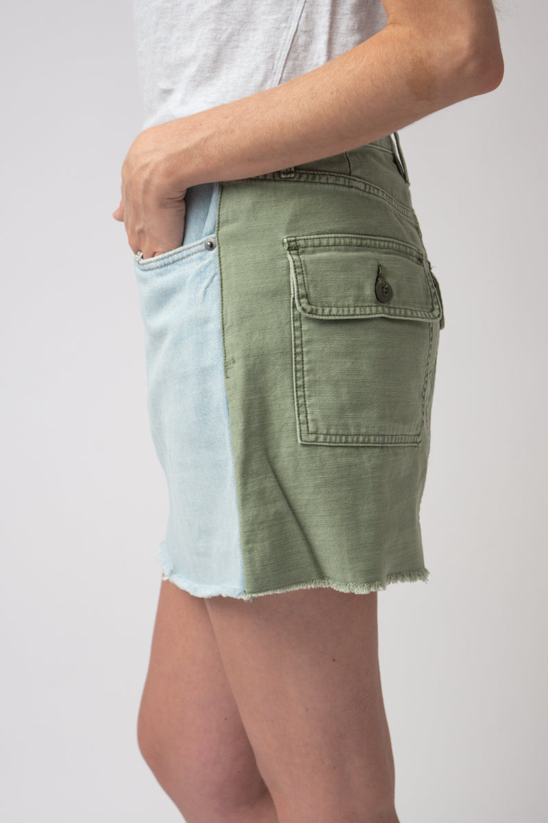 Le Mini Skirt Cargo Mix in Canteburry