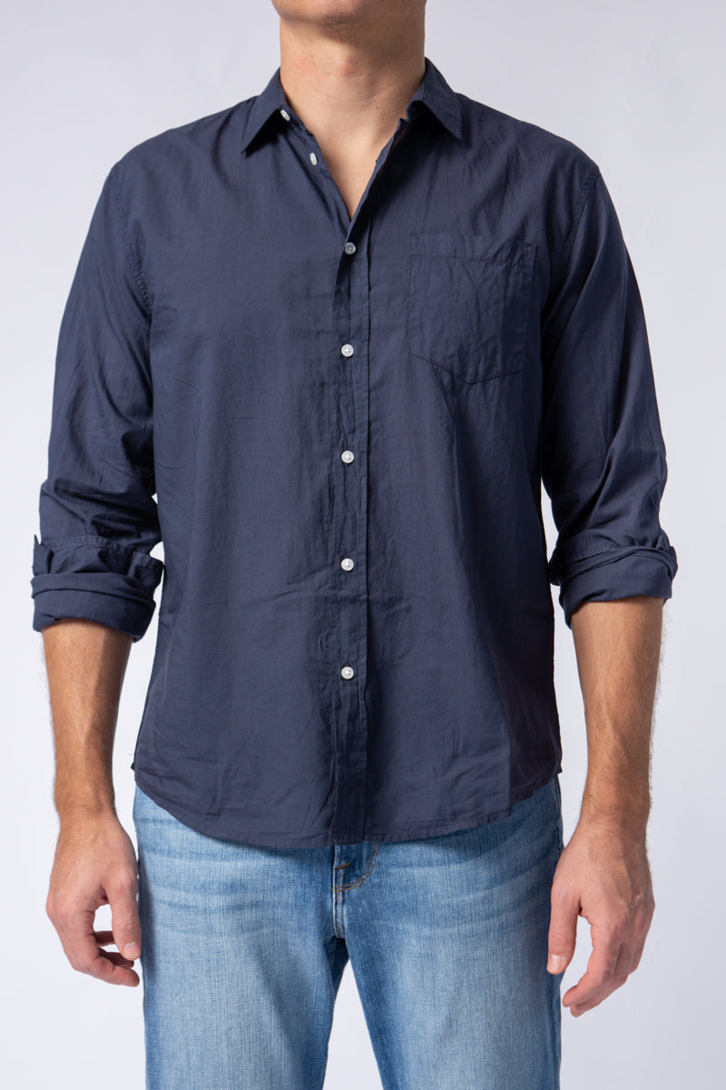 Long Sleeve Button Down Shirt in Navy