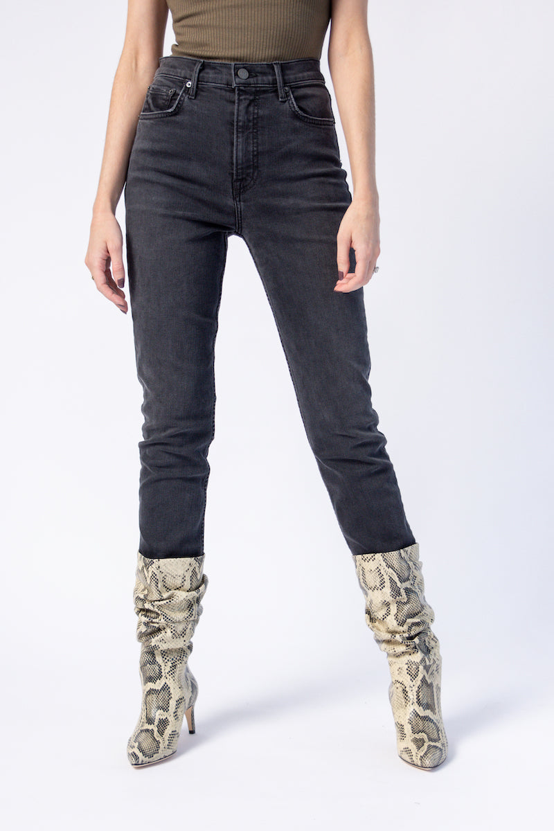 Reed Skinny Jeans in Black Rain