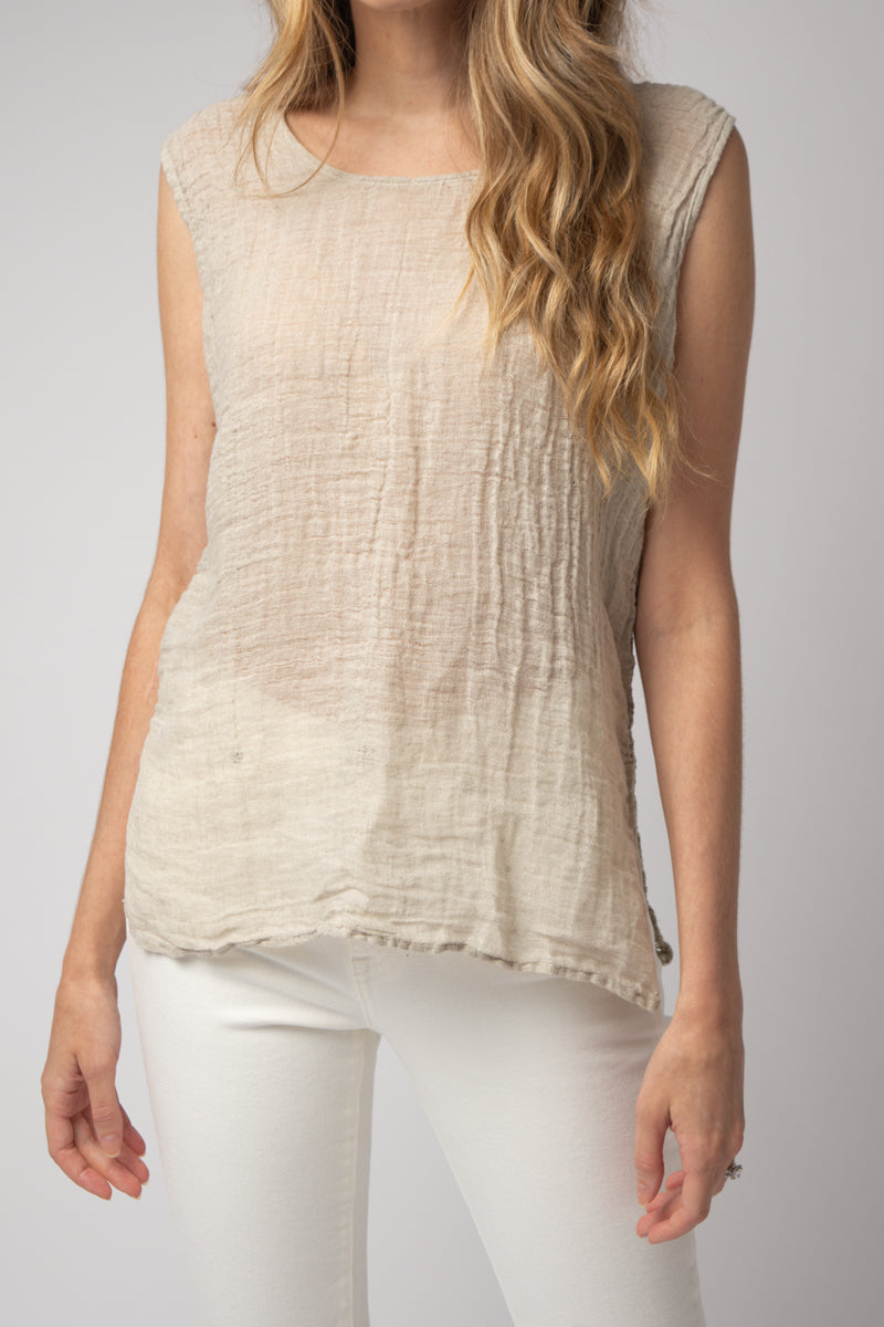 Canotta Petrusino Tank Top in Garzata Naturale