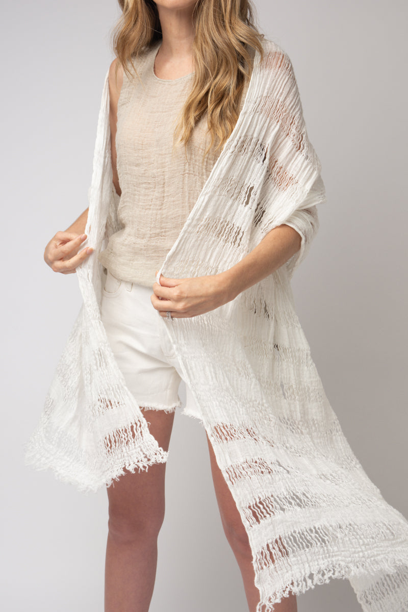Scialle Melis Scarf in Latte