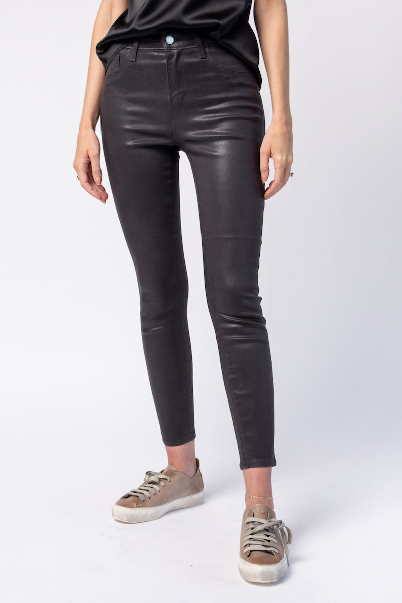 Margot High Rise Skinny Jean in Greystone Coated