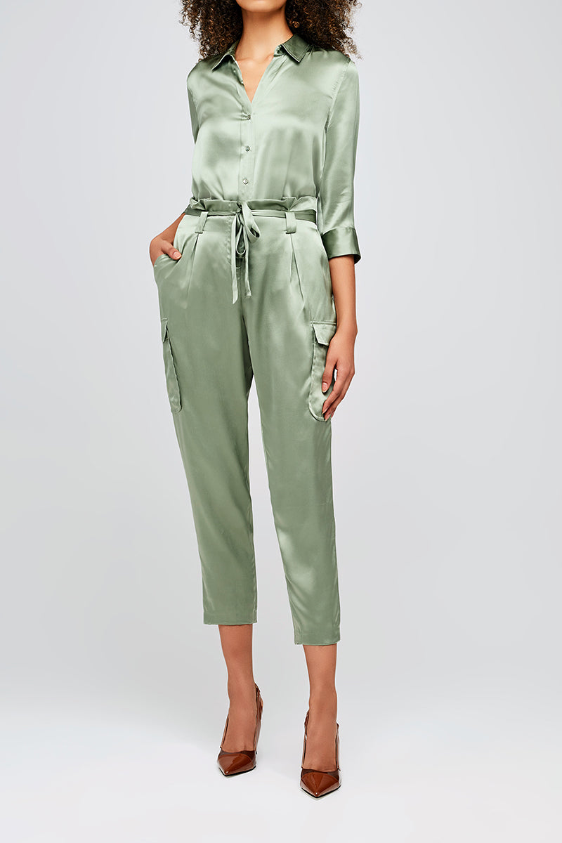 Roxy Paperbag Cargo Pant in Light Ivy