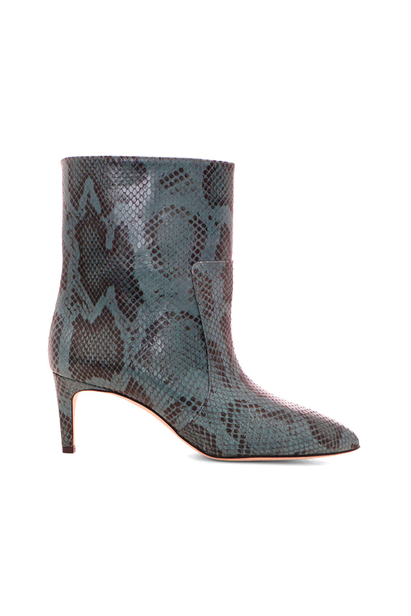 Python Seamed Ankle Bootie in Blue Grey