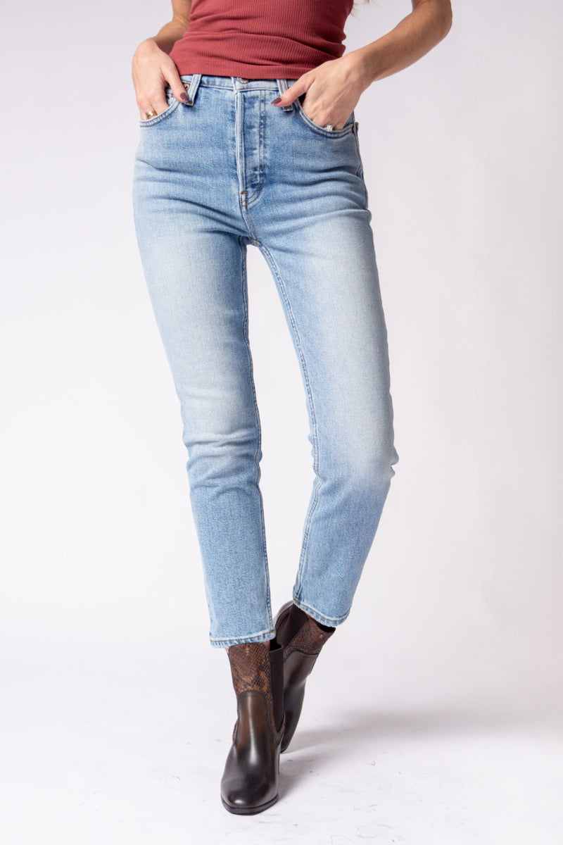 90s Ankle Crop Jeans in Hazey Indigo