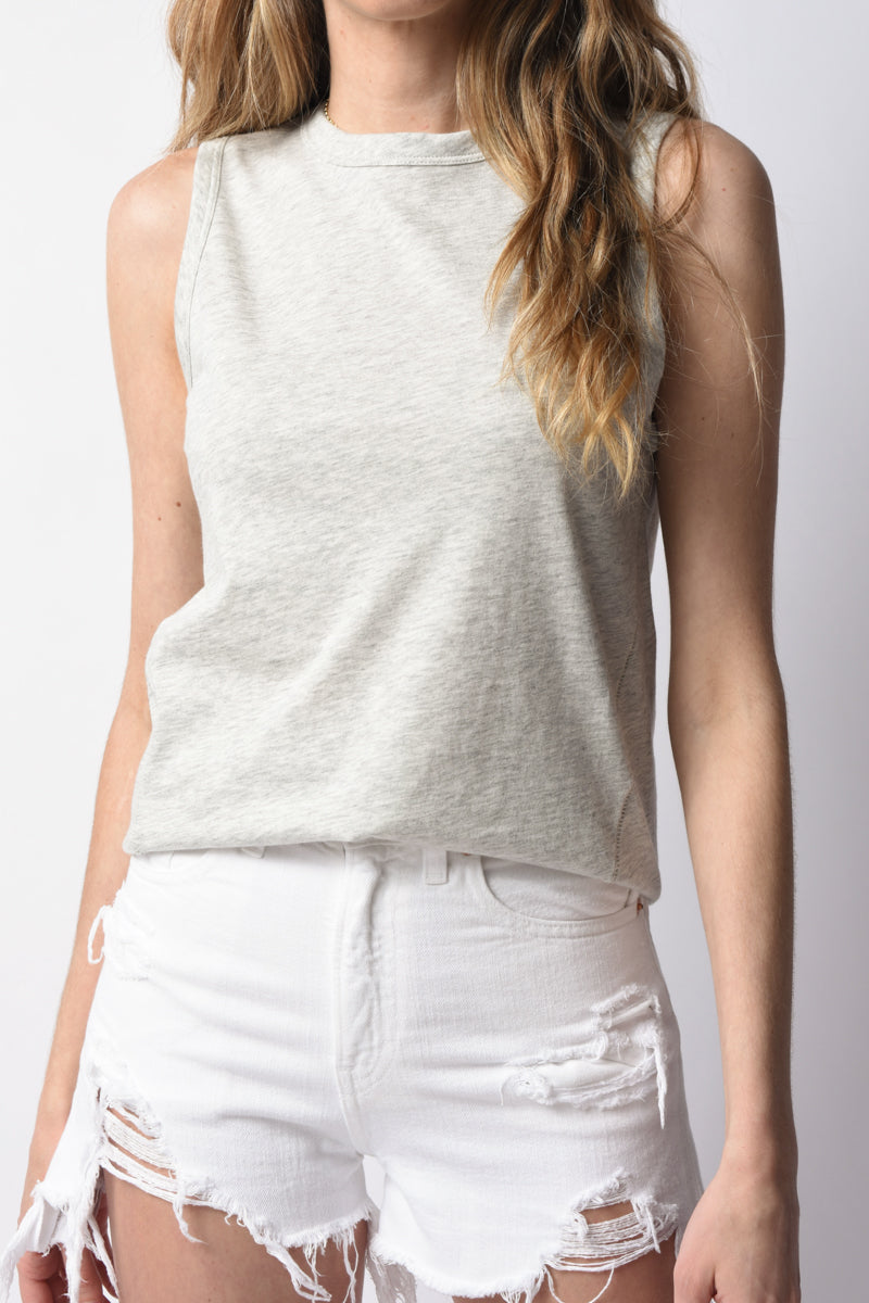 The Jersey Muscle Tank in Heather Grey