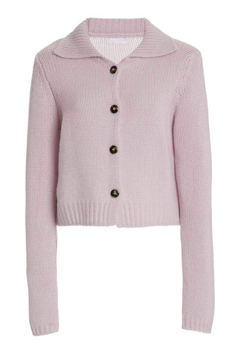 Jackson Cashmere Cardigan in Lilac