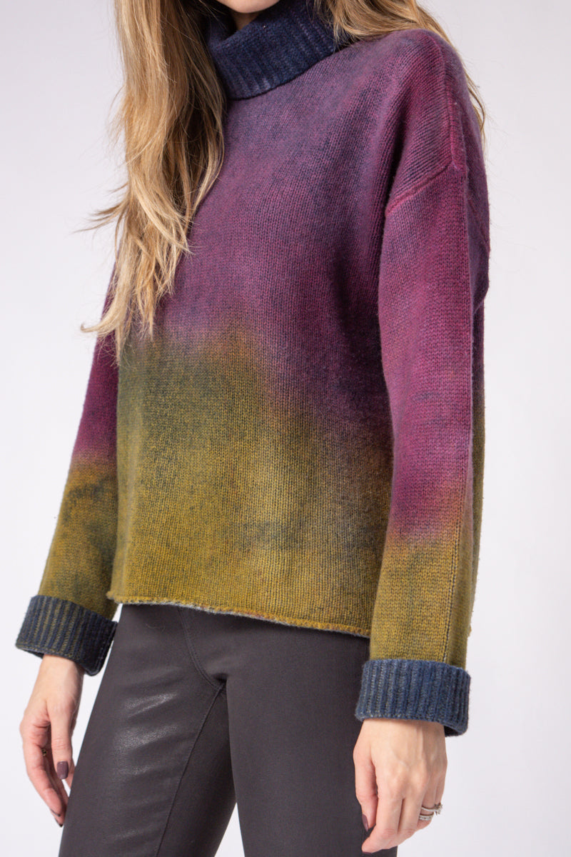 Turtleneck Sweater in Berry