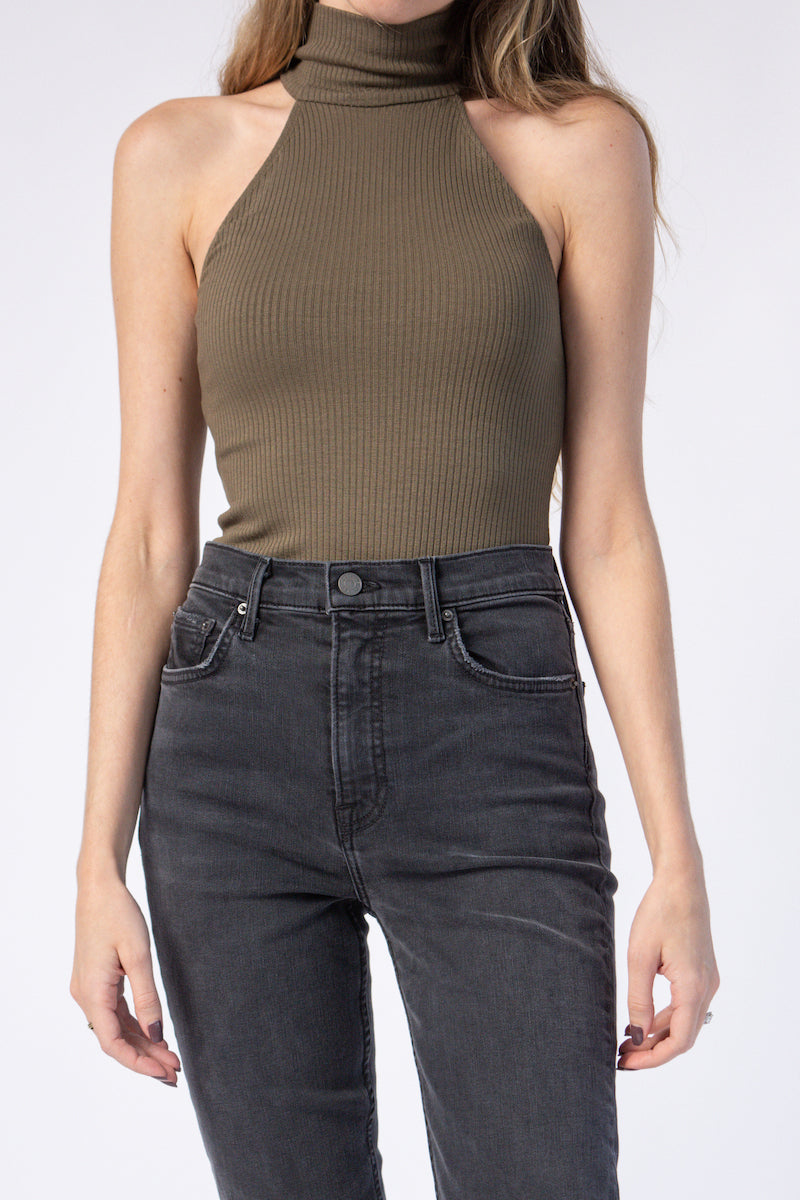 Sleeveless Turtleneck Top in Hazel