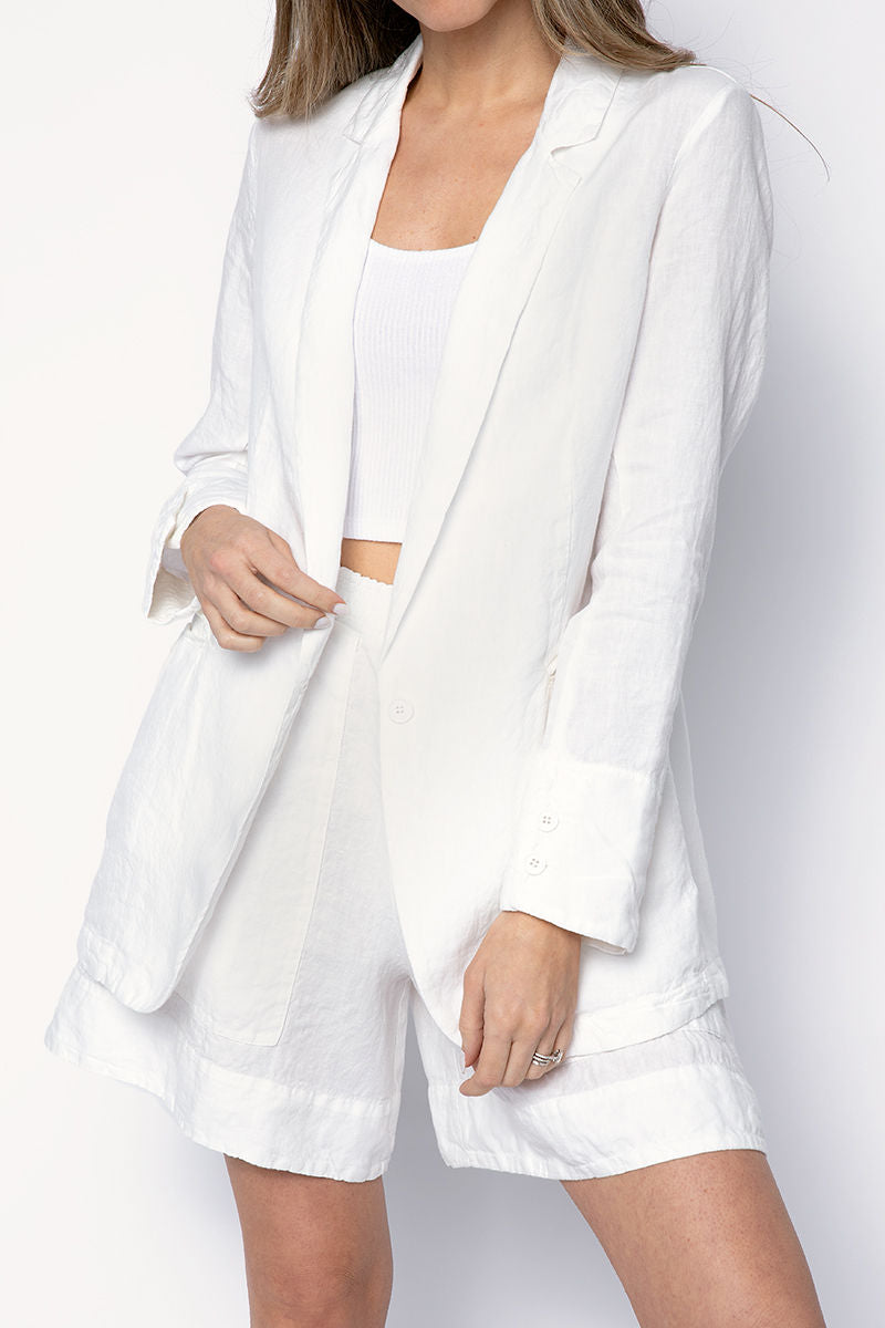 Blazer Jacket in Off White