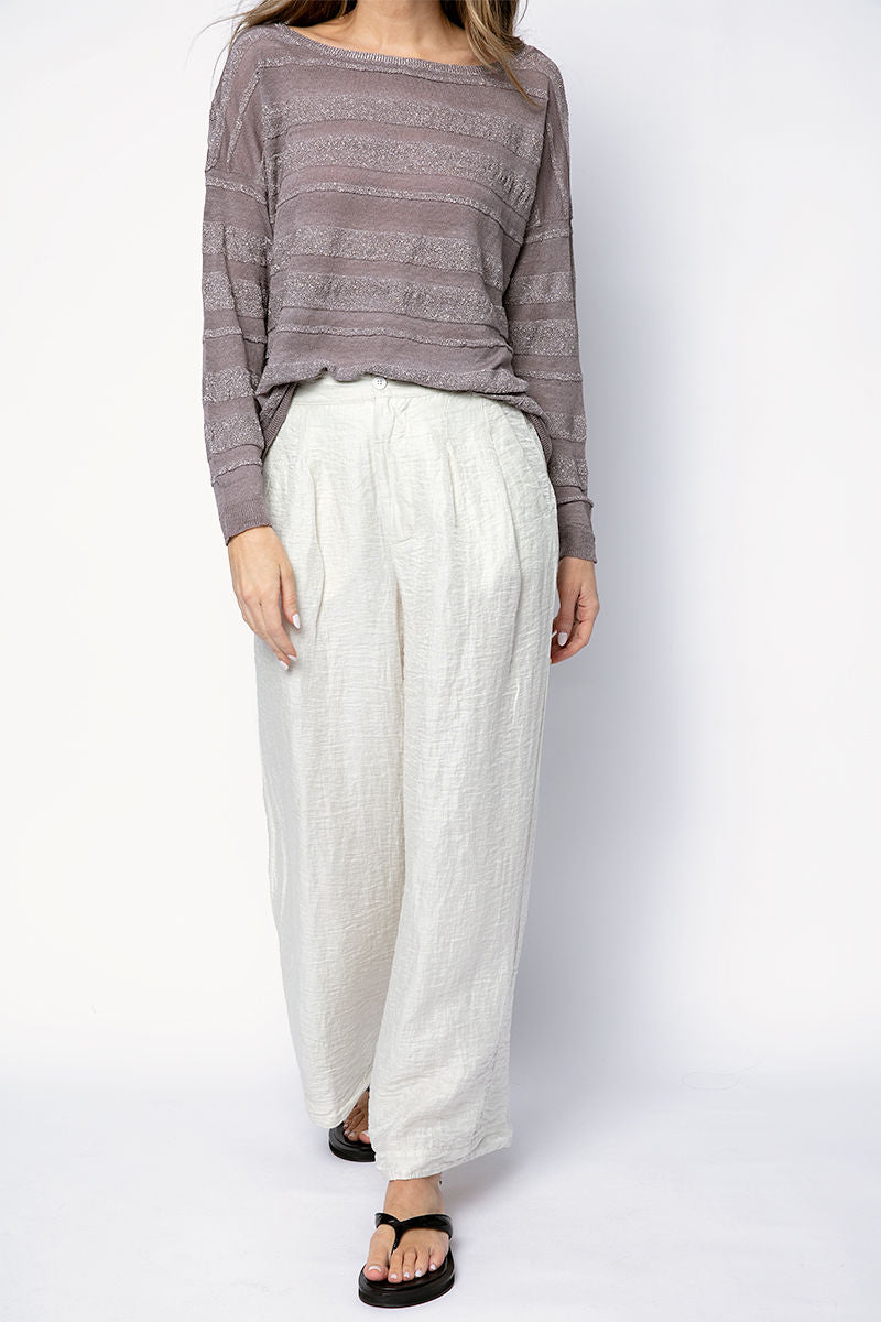 Wide Leg Trouser Pant in Quinoa