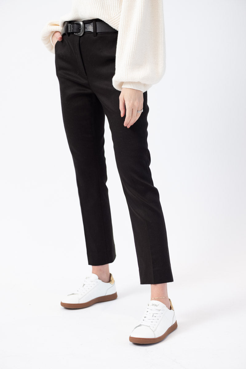 Cropped Perfect Trouser Pant in Noir
