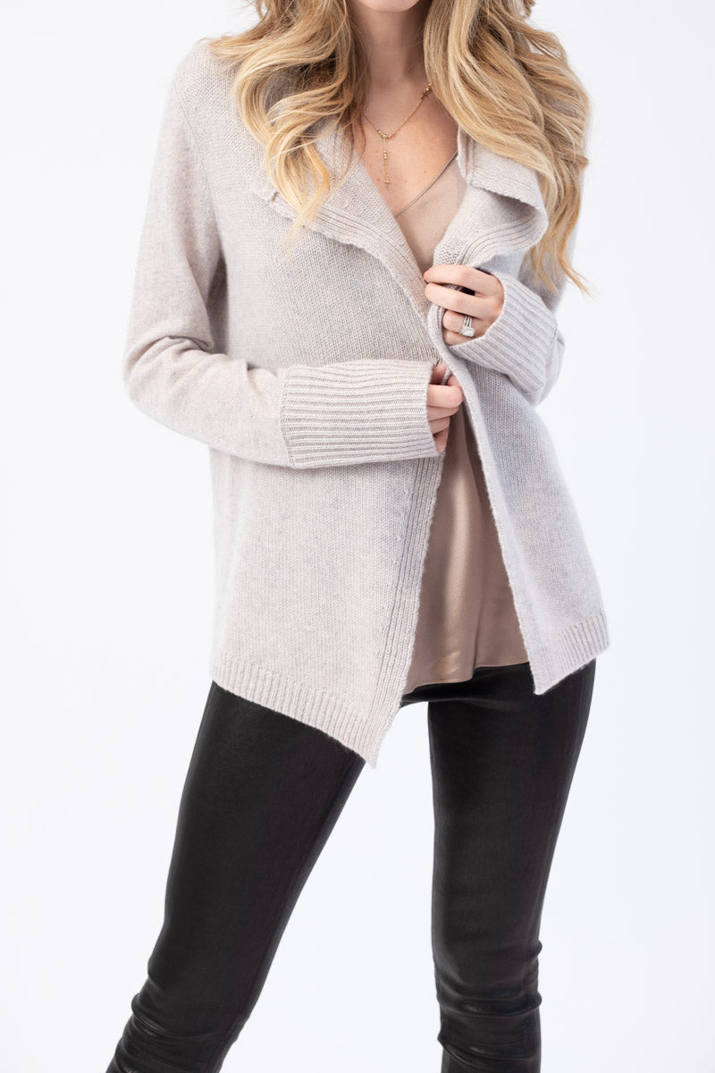 Cashmere Cardigan in Twill