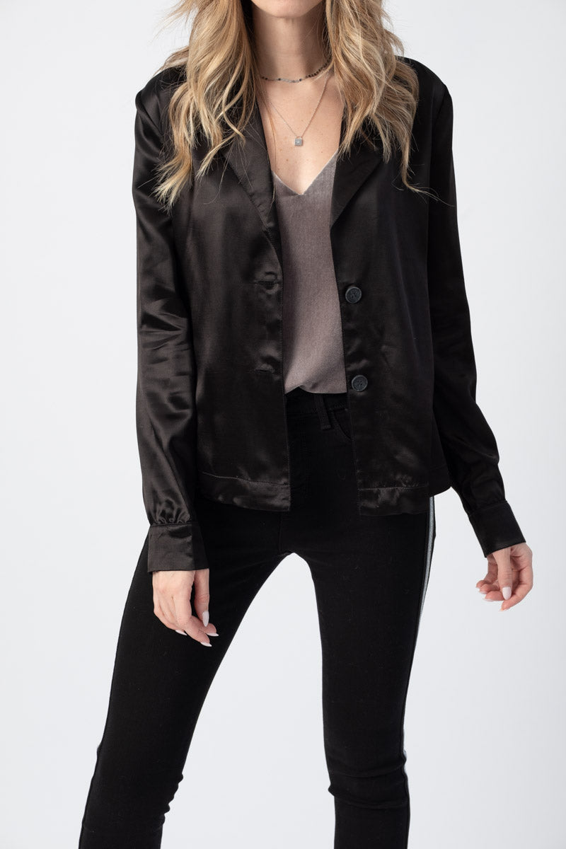 Shirt Blazer in Black