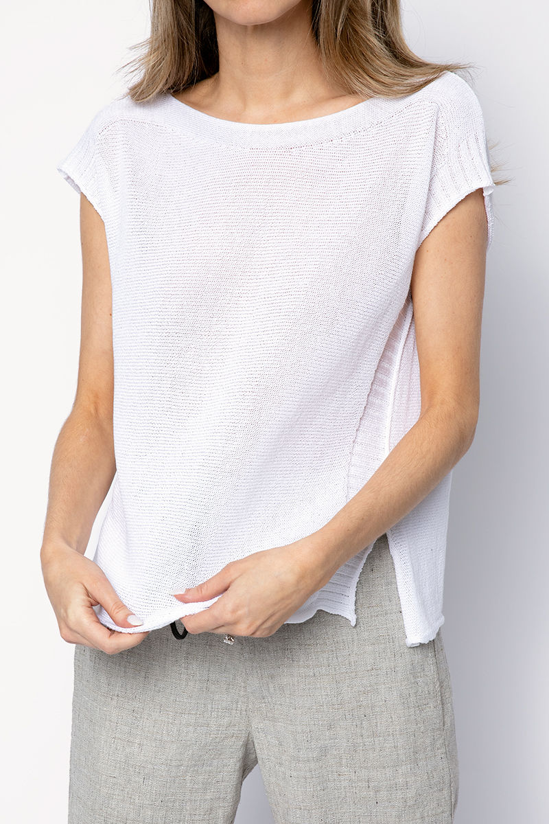 Sleeveless Top in White