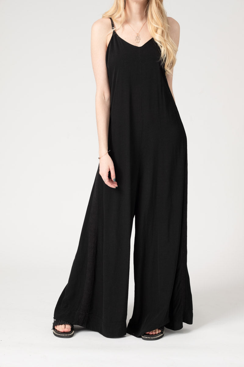 Wide Leg Jumpsuit Black