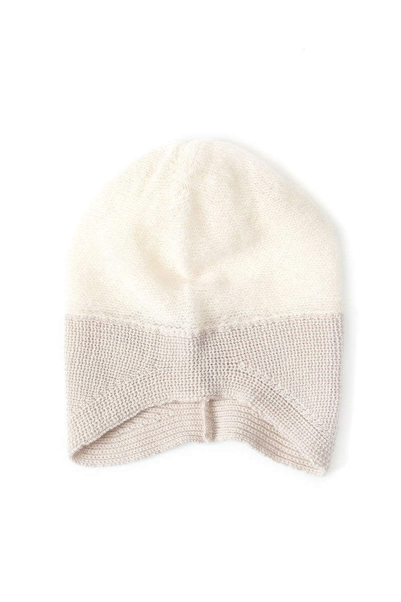 Knit Hat in Ivory