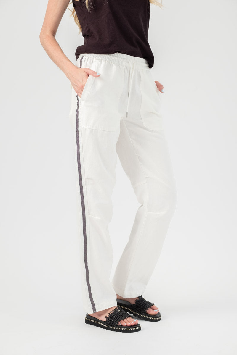 Parco Trousers with Side Stripe in Judo