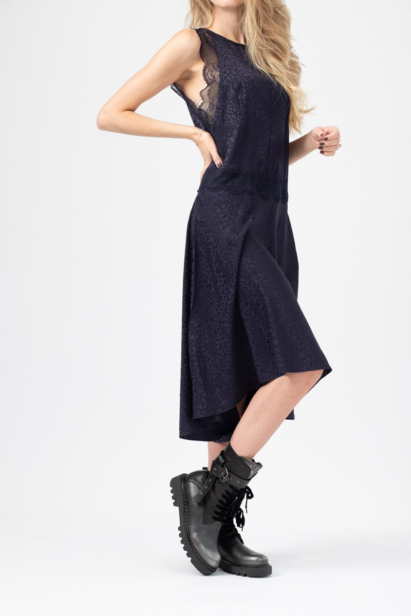Roberto Jac Leo Dress in Navy