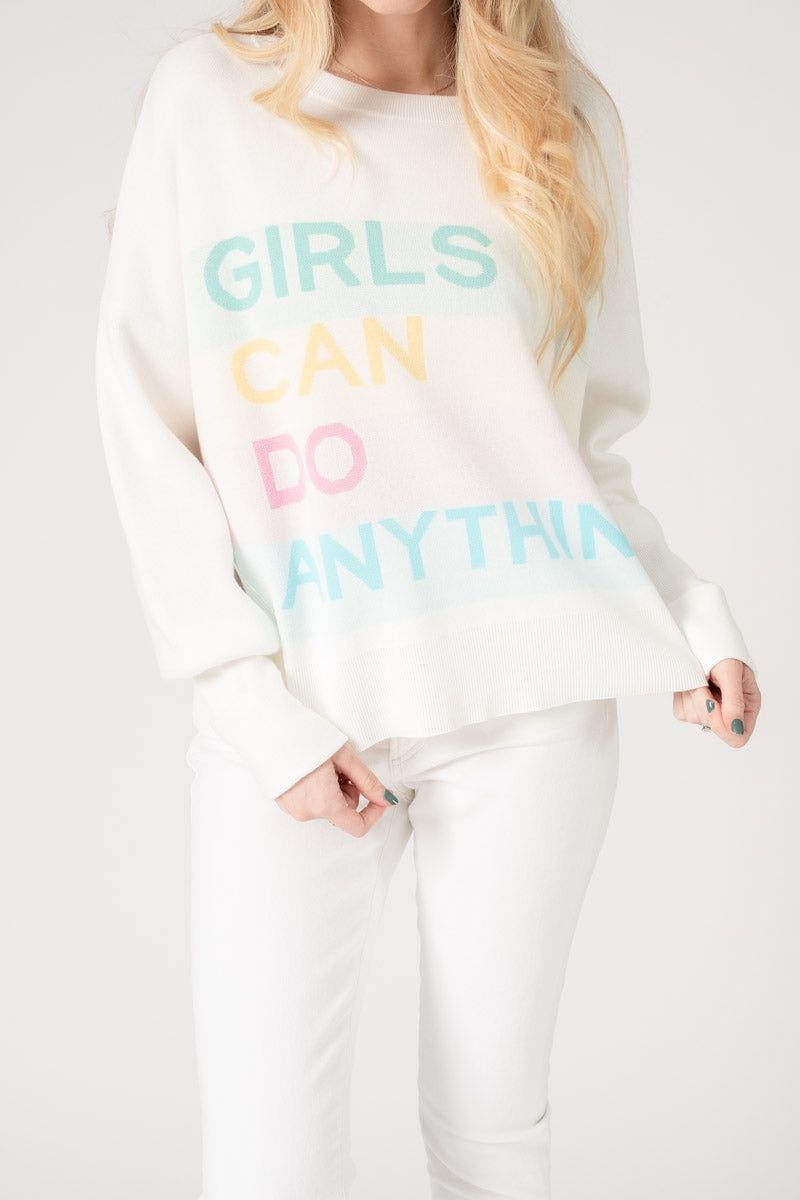 Nell Co Girls Jacquard Sweater