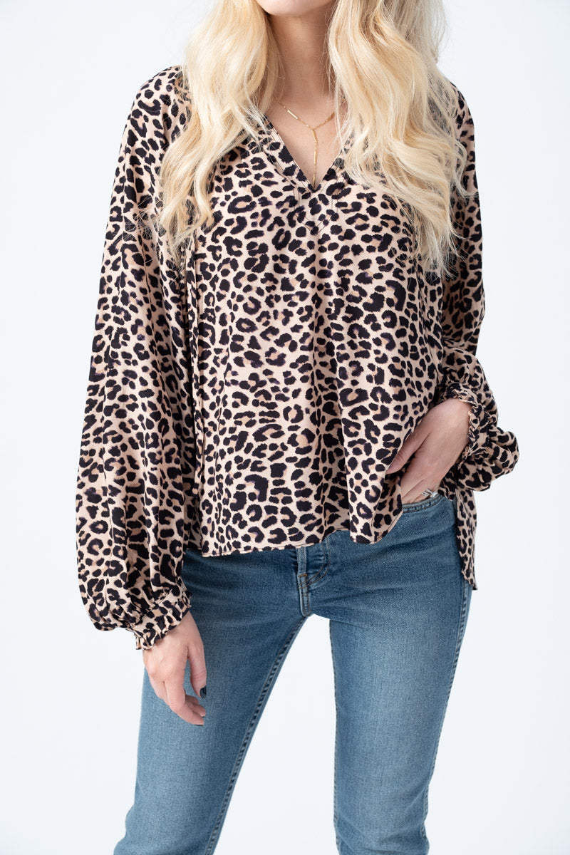 Theresa Blouse in Leopard Print