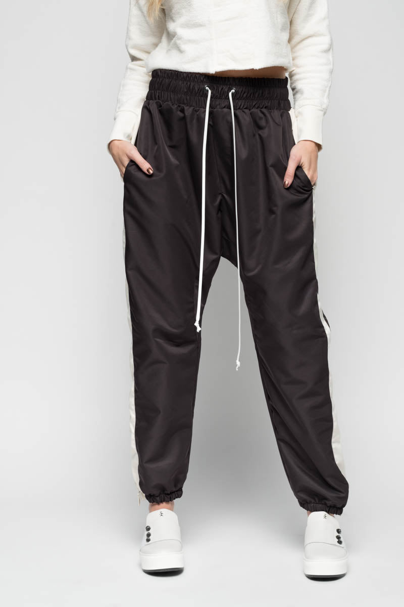Parachute Track Pants in Black/Natural