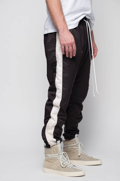Parachute Track Pants in Black / Natural