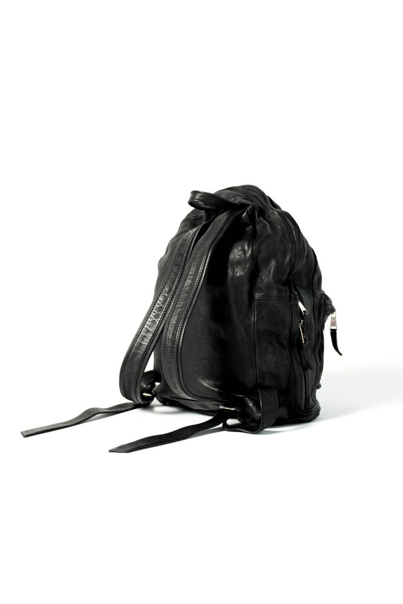 Black Lamb Leather Backpack