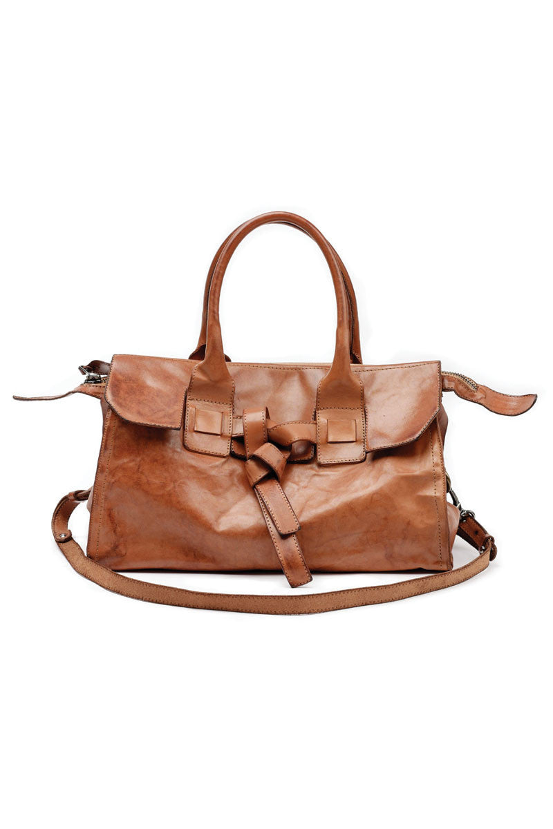 Calf Leather Bag in Squash
