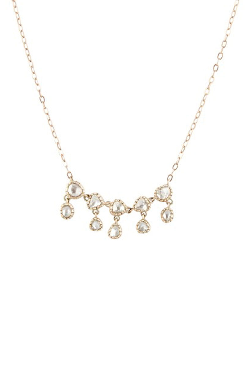 Lara No1 Diamond Cluster Necklace