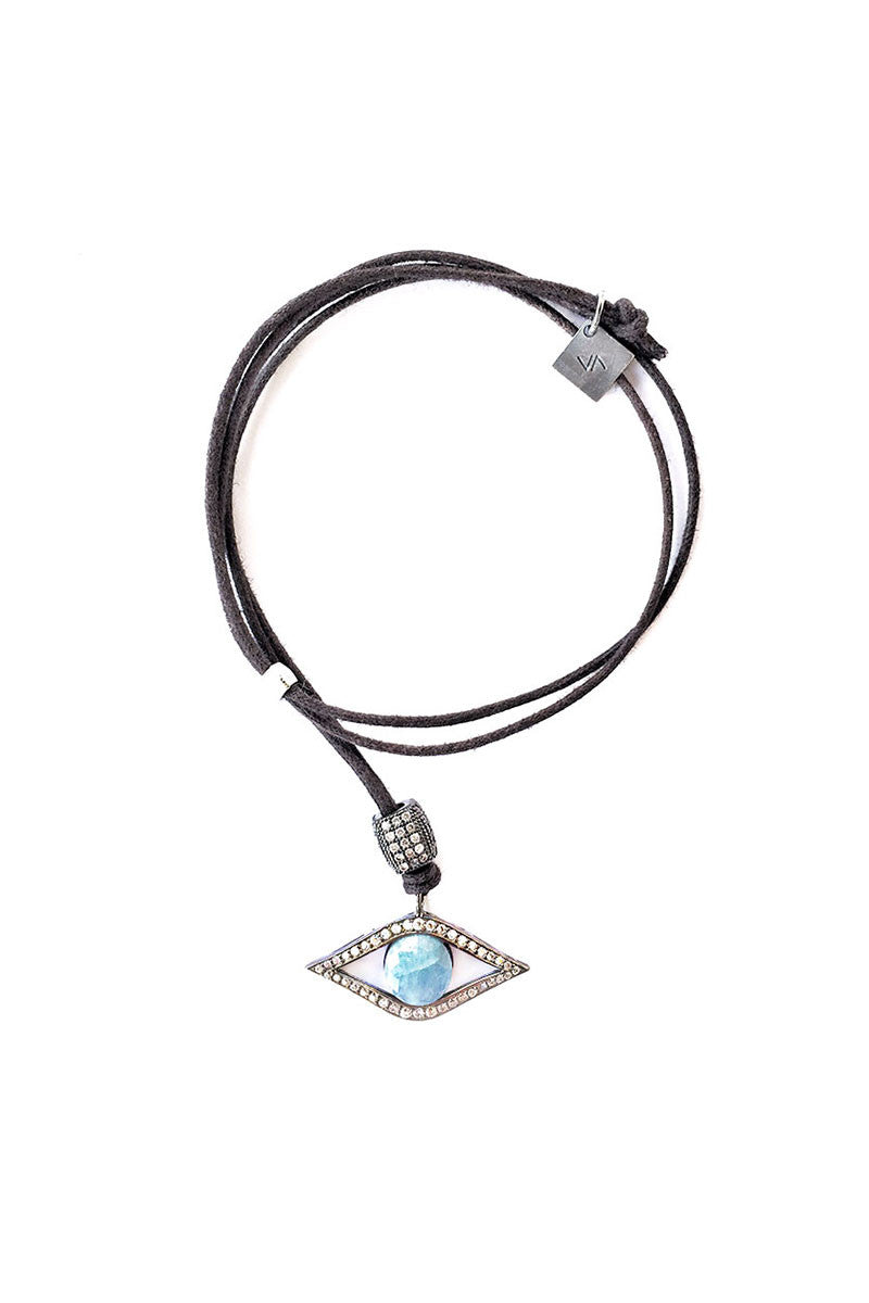 Sapphire Evil-Eye Adjustable Necklace
