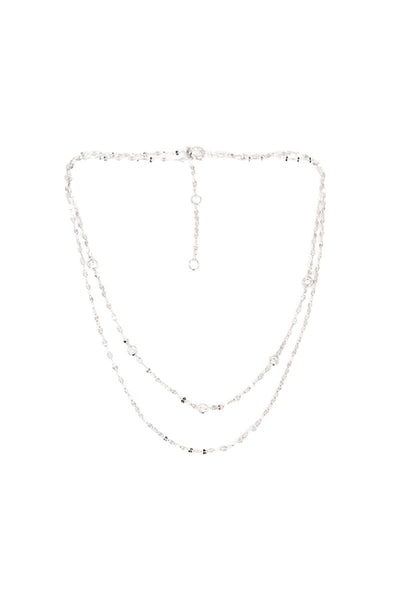 Aurora Double Chain Choker in Silver