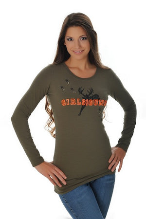 Jumping Buck Long Sleeve - Girls With Guns
