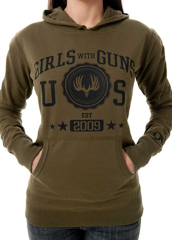 Buck Pullover Olive - Girls With Guns