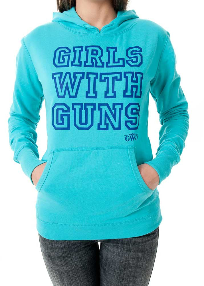 Basic GWG Pullover Teal - Girls With Guns