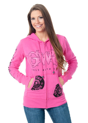Shooting Hoodie - Zip Up Pink