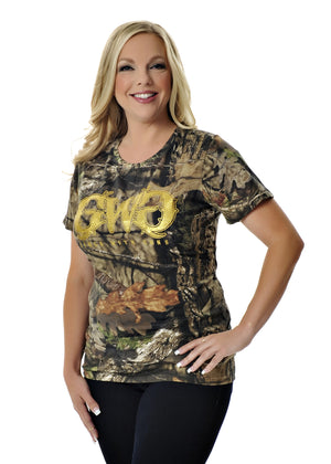 Womens Basic Tee in Mossy Oak Break Up Country Camo by Girls With Guns Plus Size