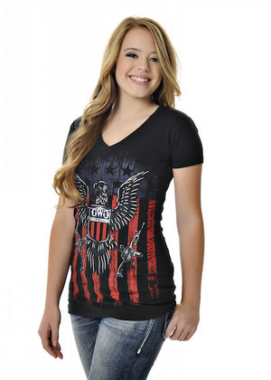Womens 2nd Amendment Tee in Black by Girls With Guns