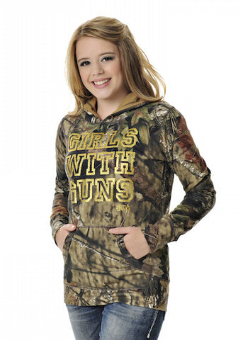 Womens Pullover Hoodie in Mossy Oak Break Up Country Camo by Girls With Guns
