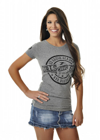 Womens Duck Tee in Heather Grey by Girls With Guns