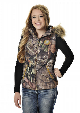 Womens Fur Vest in Mossy Oak Break Up Country Camo by Girls With Guns