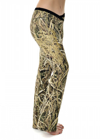 Womens Lounge Pants in Mossy Oak Blades Camo by Girls With Guns