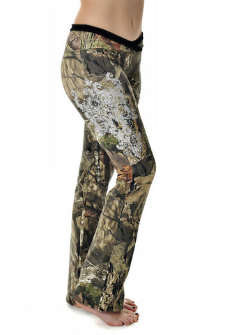Womens Lounge Pants in Mossy Oak Break Up Country Camo by Girls With Guns